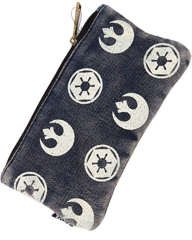 loungefly star wars rebel imperial denim pouch