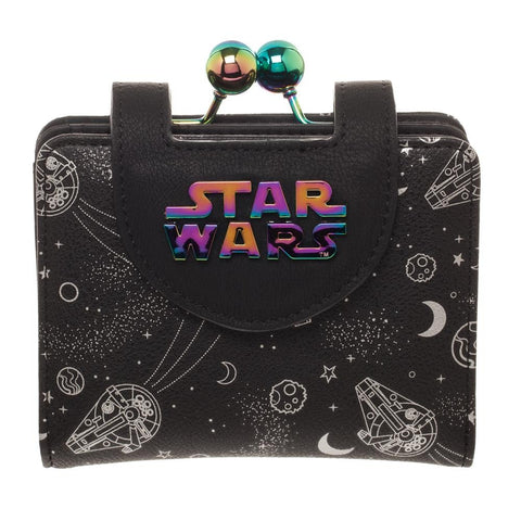 millennium falcon iridescent kisslock wallet