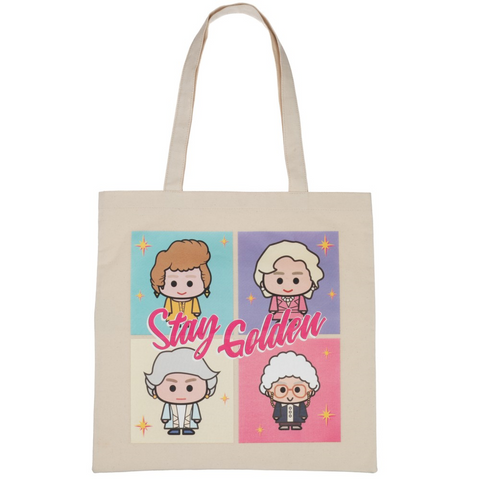 golden girls chibi daily tote bag