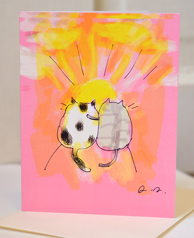 sunrise-sunset cats card - Funky Cat Emporium