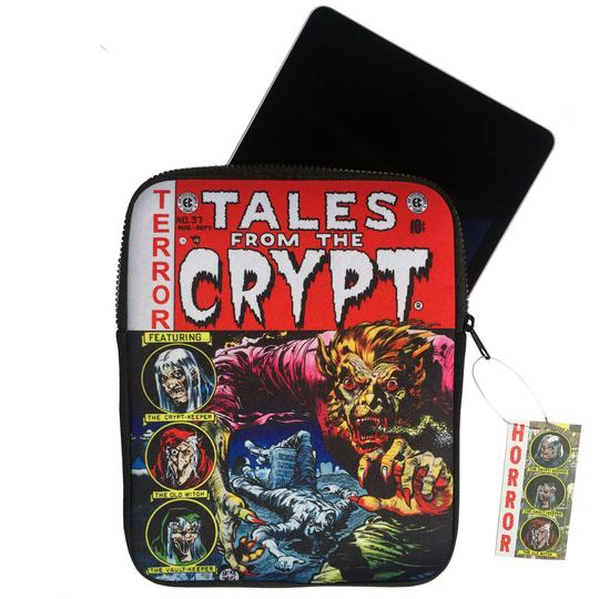 tales from the crypt tablet book pouch - Funky Cat Emporium