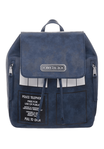 doctor who police call box tardis mini backpack