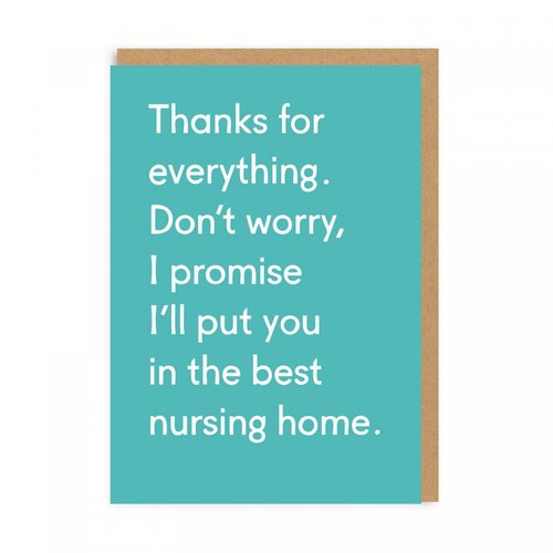 thanks for everything card - Funky Cat Emporium