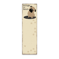 Things to Fetch Dog Magnetic List Notepad - Funky Cat Emporium