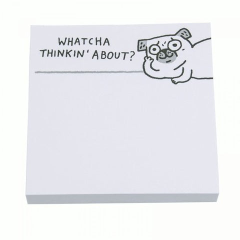 whatcha thinkin' about dog sticky notes - Funky Cat Emporium