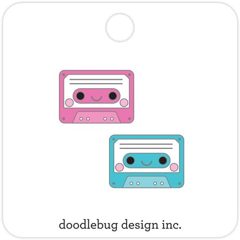 tiny cassette tapes enamel pin set - Funky Cat Emporium