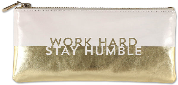 work hard stay humble pouch - Funky Cat Emporium