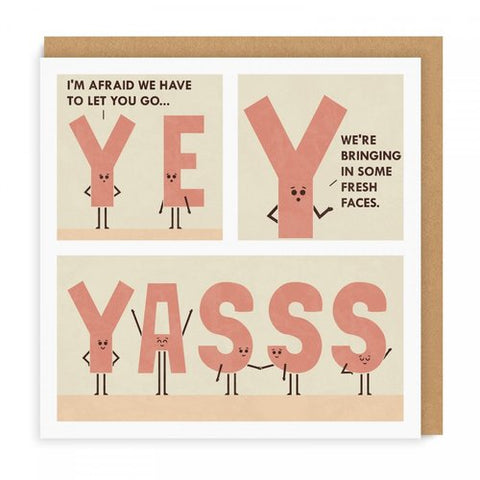 yas is the new yes card - Funky Cat Emporium