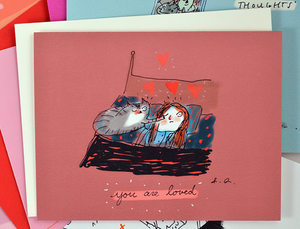 you are loved cat card - Funky Cat Emporium