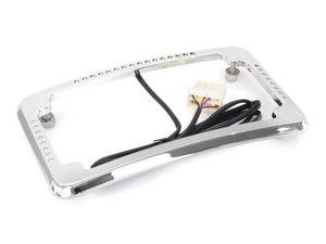 CYCLE VISIONS Curved Slick Signal Run/Turn/Brake Number Plate Frame Chrome