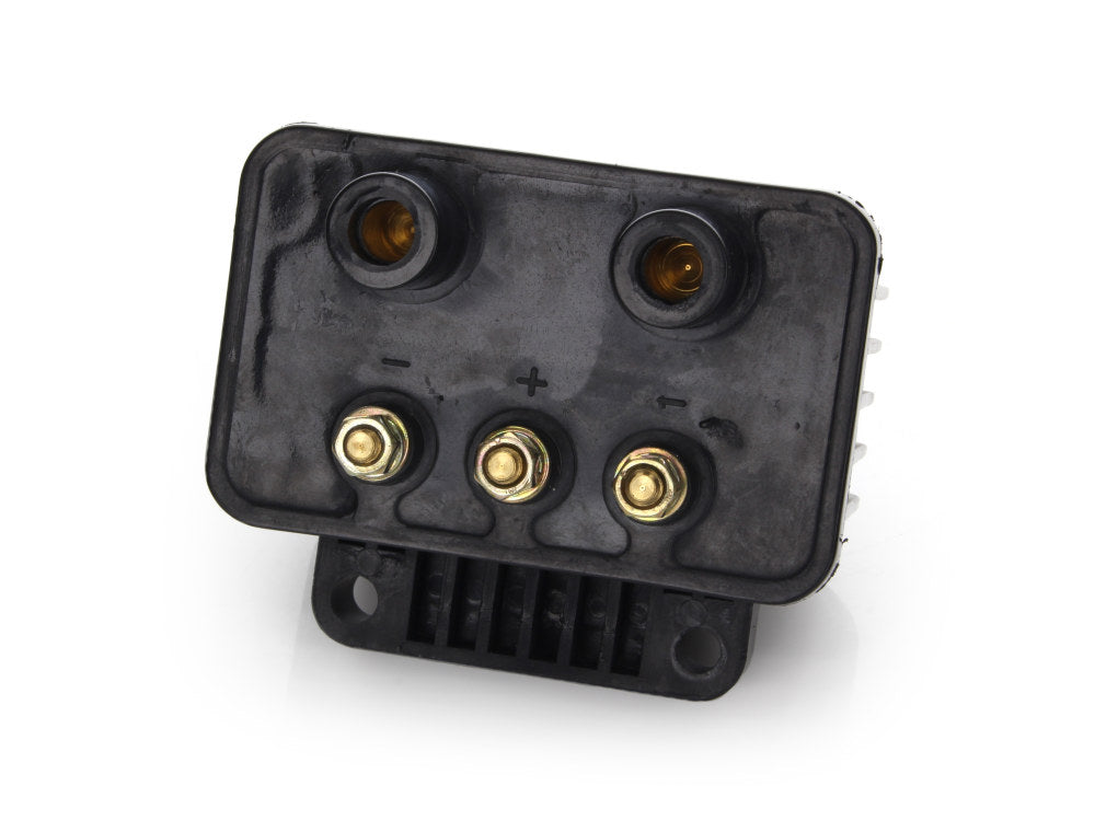 Ignition Coil – Black. Fits Big Twin 1970-1999 & Sportster 1971-2003 Models with Upgraded Single Fire Ignition.