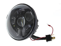 HOGLIGHTS 5-3/4″ LED HeadLight Insert with Parker – Black. Fits H-D & Indian Scout Models with 5-3/4″ Headlight