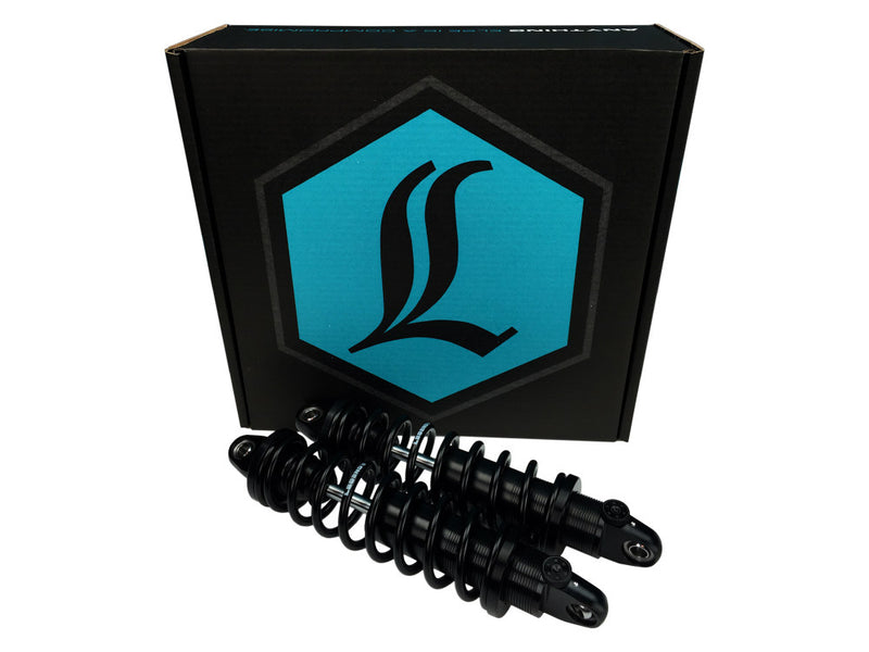 LEGEND REVO-A Series, 13″ Adjustable Rear Shock Absorbers – Black. Fits Sportster 2004up