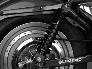 LEGEND REVO-A Series, 14″ Adjustable Rear Shock Absorbers – Black. Fits Sportster 2004up