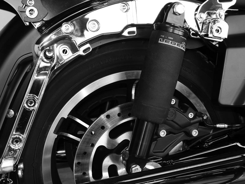 LEGEND AIR-A Series, Adjustable Rear Air Shock Absorbers – Black. Fits Road Glide 2017up