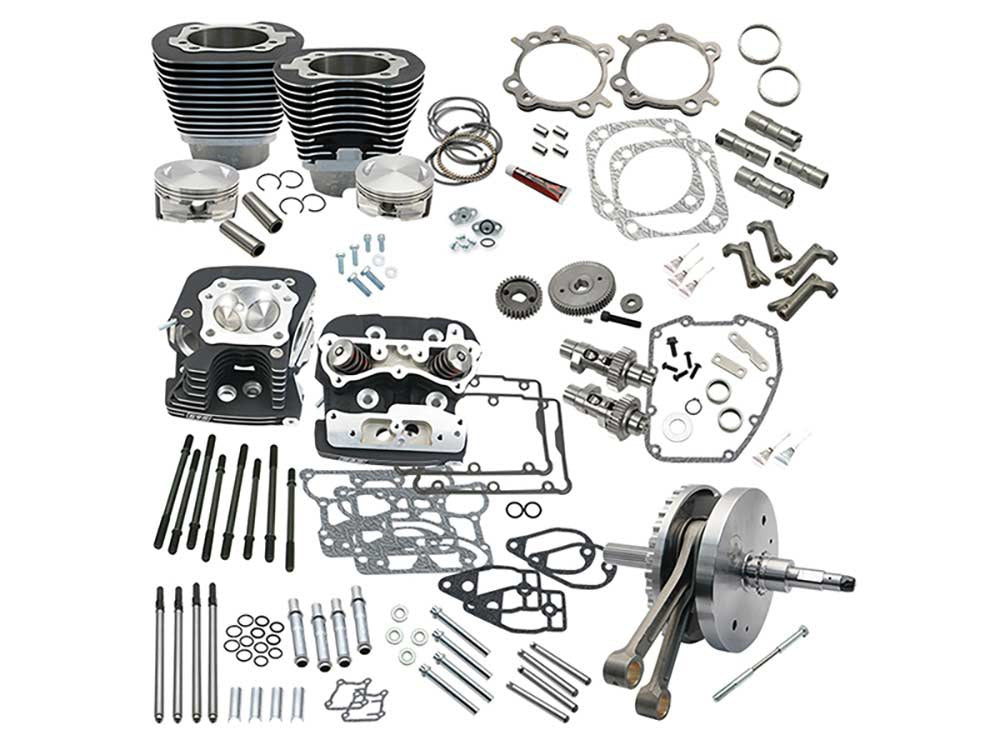 124ci Hot Set Up Kit with 91cc S&S Cylinder Heads – Black. Fits Twin Cam Softail 2007-2017.