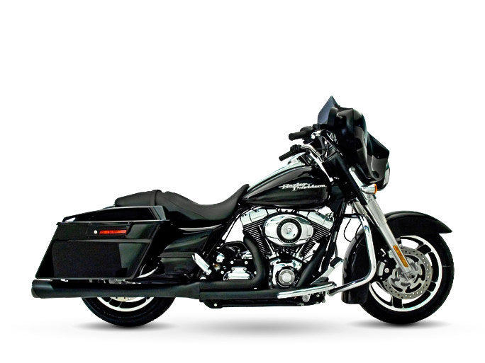 SUPER TRAPP SuperMeg 2-into-1 Exhaust – Black. Fits Touring 2010-2016
