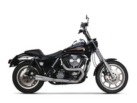 TBR Comp-S 2-into-1 Exhaust – Stainless Steel with Carbon Fiber End Cap. Fits FXR 1987-1994.