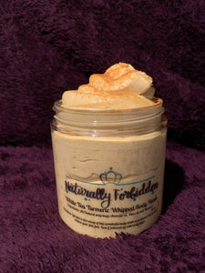 White tea Turmeric whipped body wash