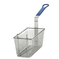 Rectangular Fry Basket  with Hook Blue (7564)