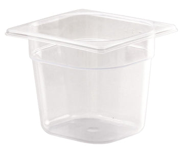 1/6 One Sixth Size Polypropylene Gastronorm Container
