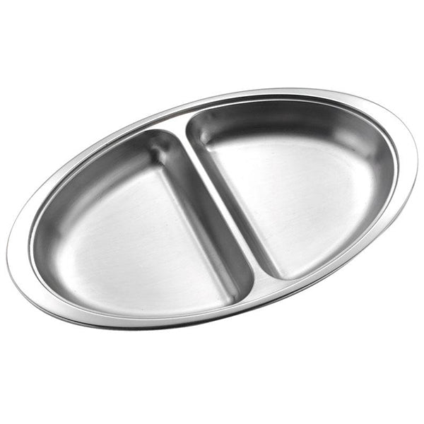 2 Division Dish Stainless Steel