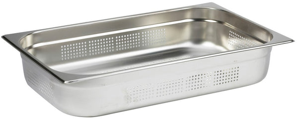 1/1 Full Size Perforated Stainless Steel Gastronorm Container