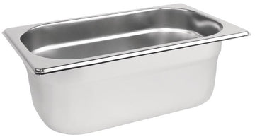 1/4 One Fourth Size Stainless Steel Gastronorm Container