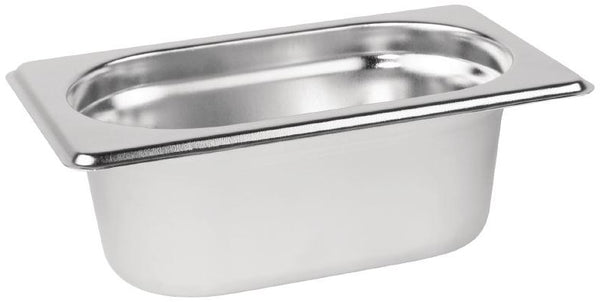 1/9 One Ninth Size Deep Stainless Steel Gastronorm Container