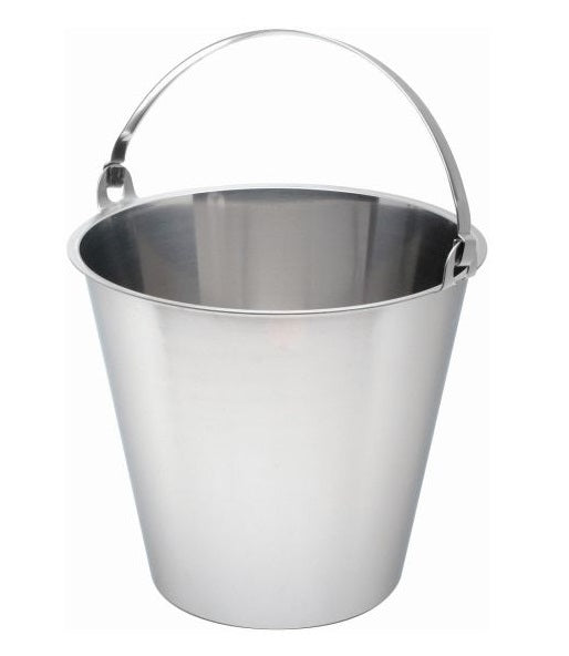 13.0 Litter Stainless Steel Bucket with Fold Handle (7353)