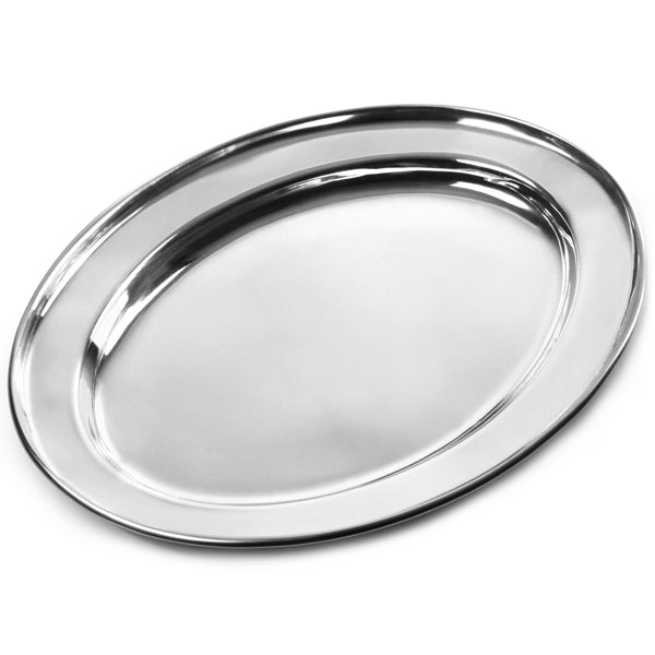 Oval Tray Stainless Steel