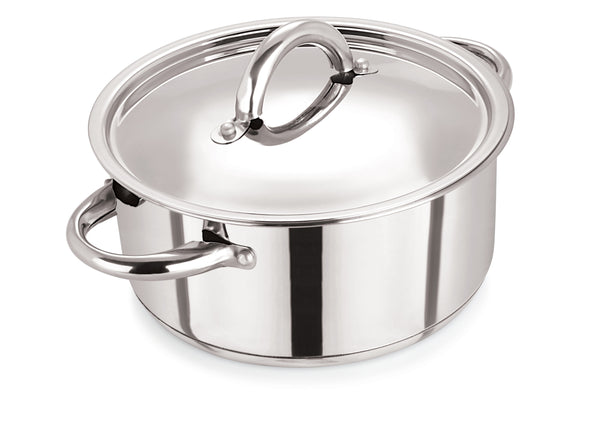 18cm Stainless Steel Casserole & S/S Lid
