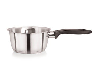 18cm Stainless Steel Milk Pan Tapered Double Lipped (5261)