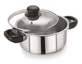 20cm Stainless Steel Casserole With Glass Lid (5104)