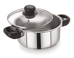 20cm Stainless Steel Casserole With Glass Lid