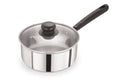 18cm Stainless Steel Saucepan With Glass Lid (5102)