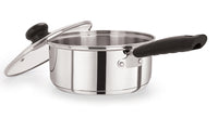 18cm Stainless Steel Saucepan With Glass Lid