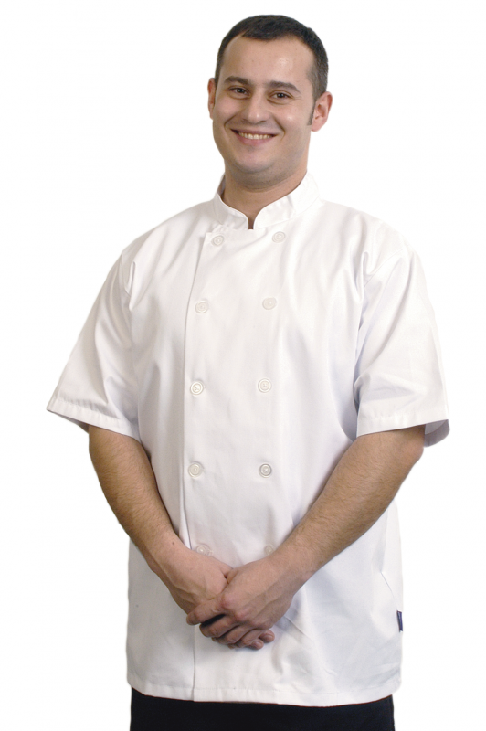 Chef's Jacket Short Sleeve WHITE