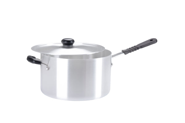 22cm Aluminium Medium Duty Saucepan with helper handle (1022)