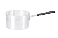 16cm Aluminium Medium Duty Saucepan Silicon Handle