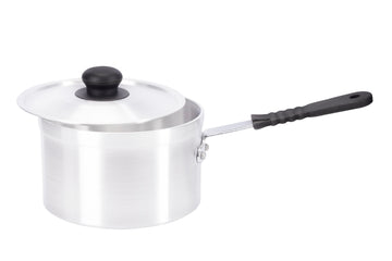 18cm Aluminium Heavy Duty Saucepan Silicon Handle (2918)