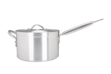 24cm Aluminium Heavy Duty Saucepan Metal Handle (3024)