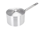18cm Aluminium Heavy Duty Saucepan Metal Handle (3018)