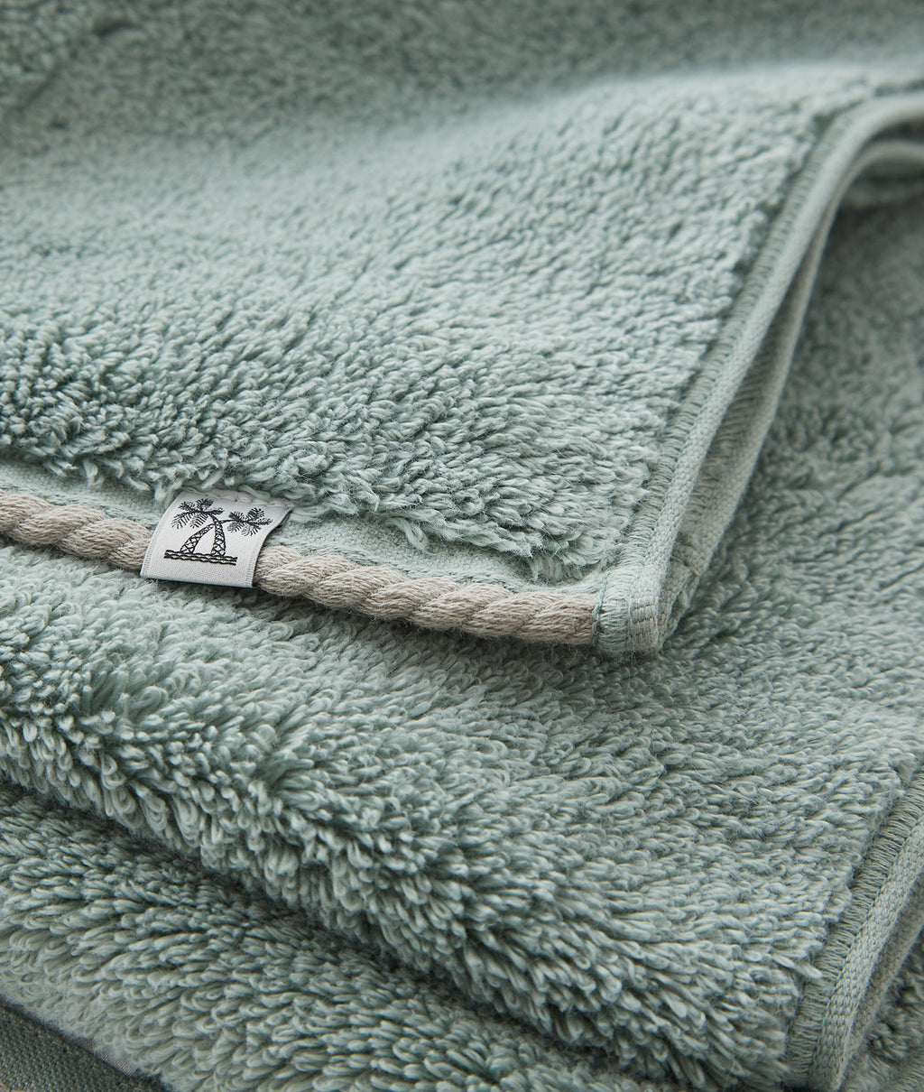 CABIN TOWEL WASH TOWEL / JADE GREEN