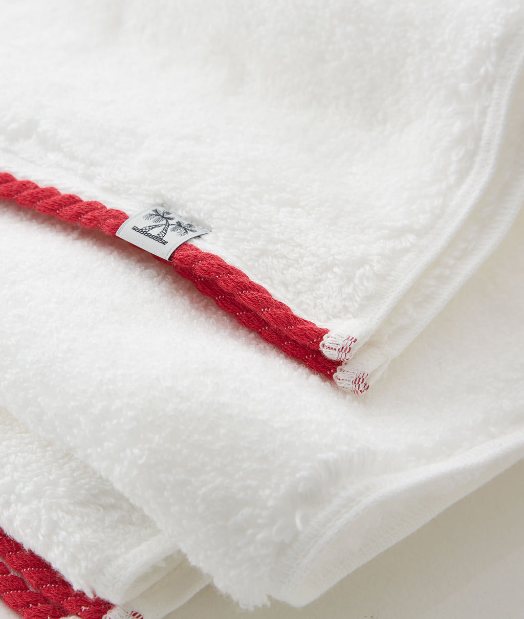 CABIN TOWEL WASH TOWEL / WHITE
