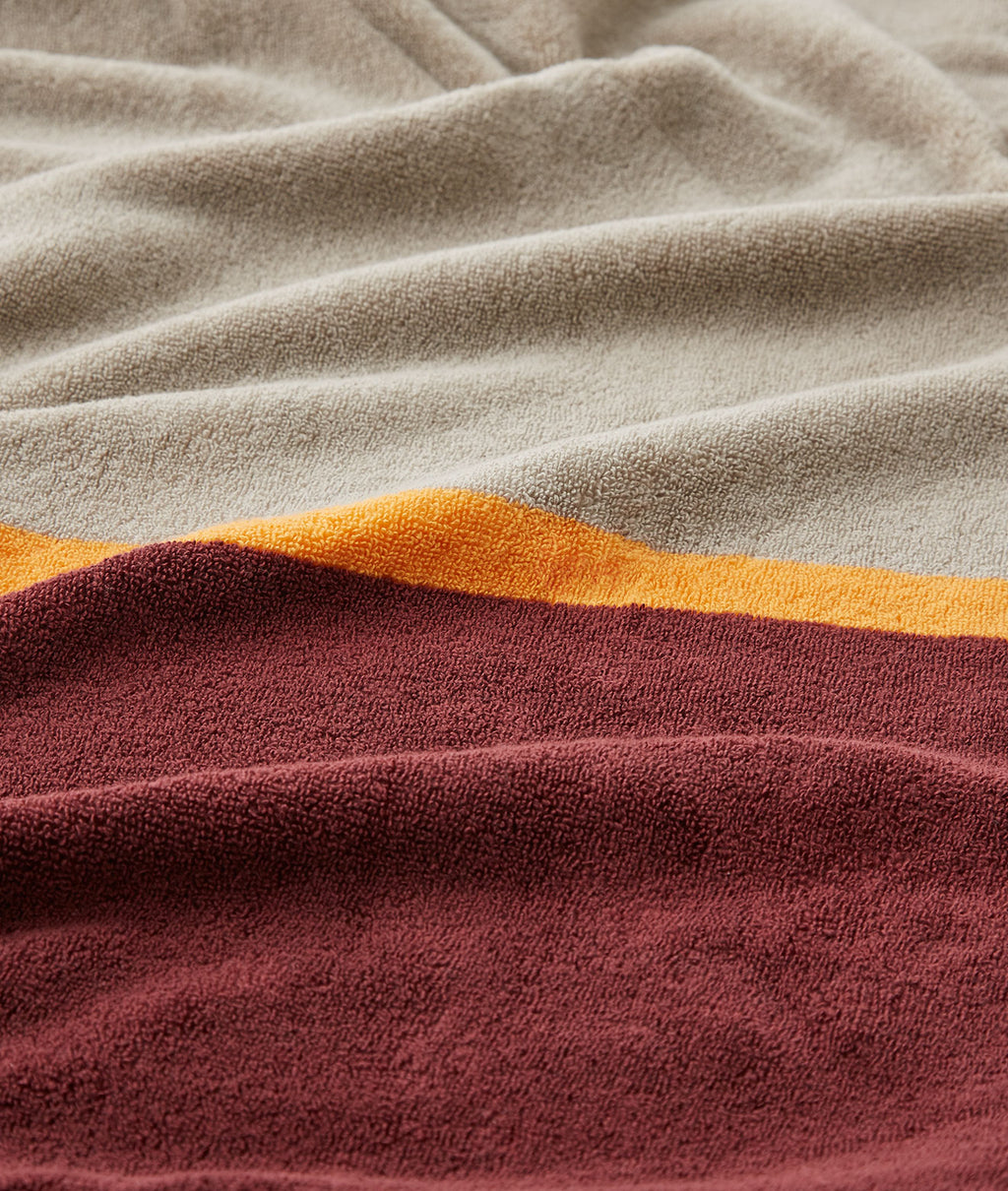 SALON TOWEL BATH SHEET / BEIGE × BURGUNDY