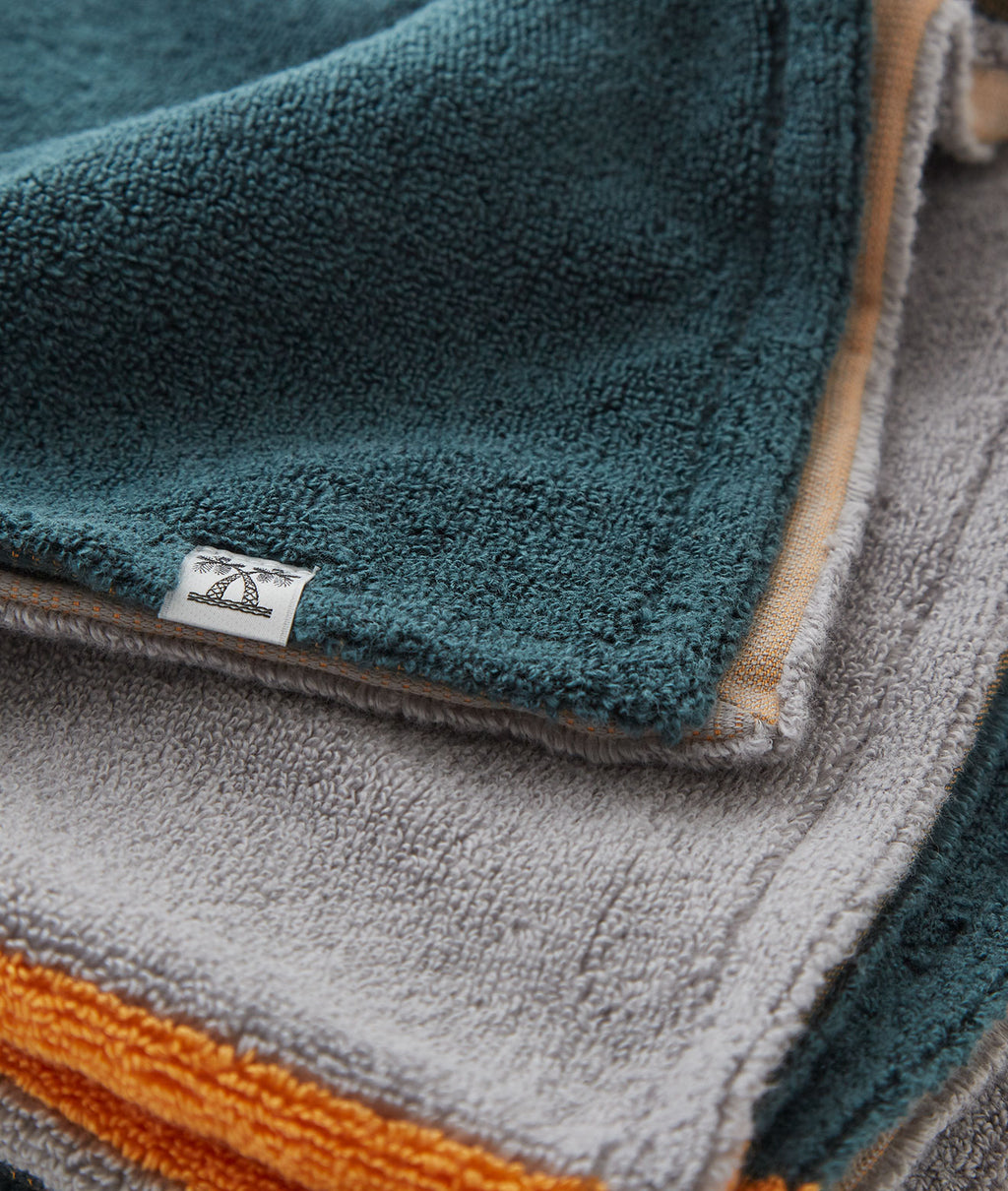 SALON TOWEL BATH SHEET / GRAY × DARK GREEN