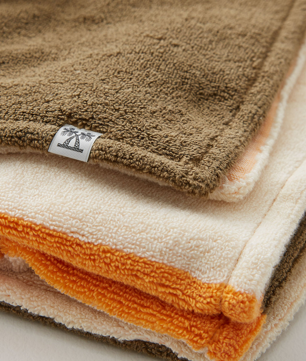 SALON TOWEL BATH TOWEL / IVORY × OLIVE