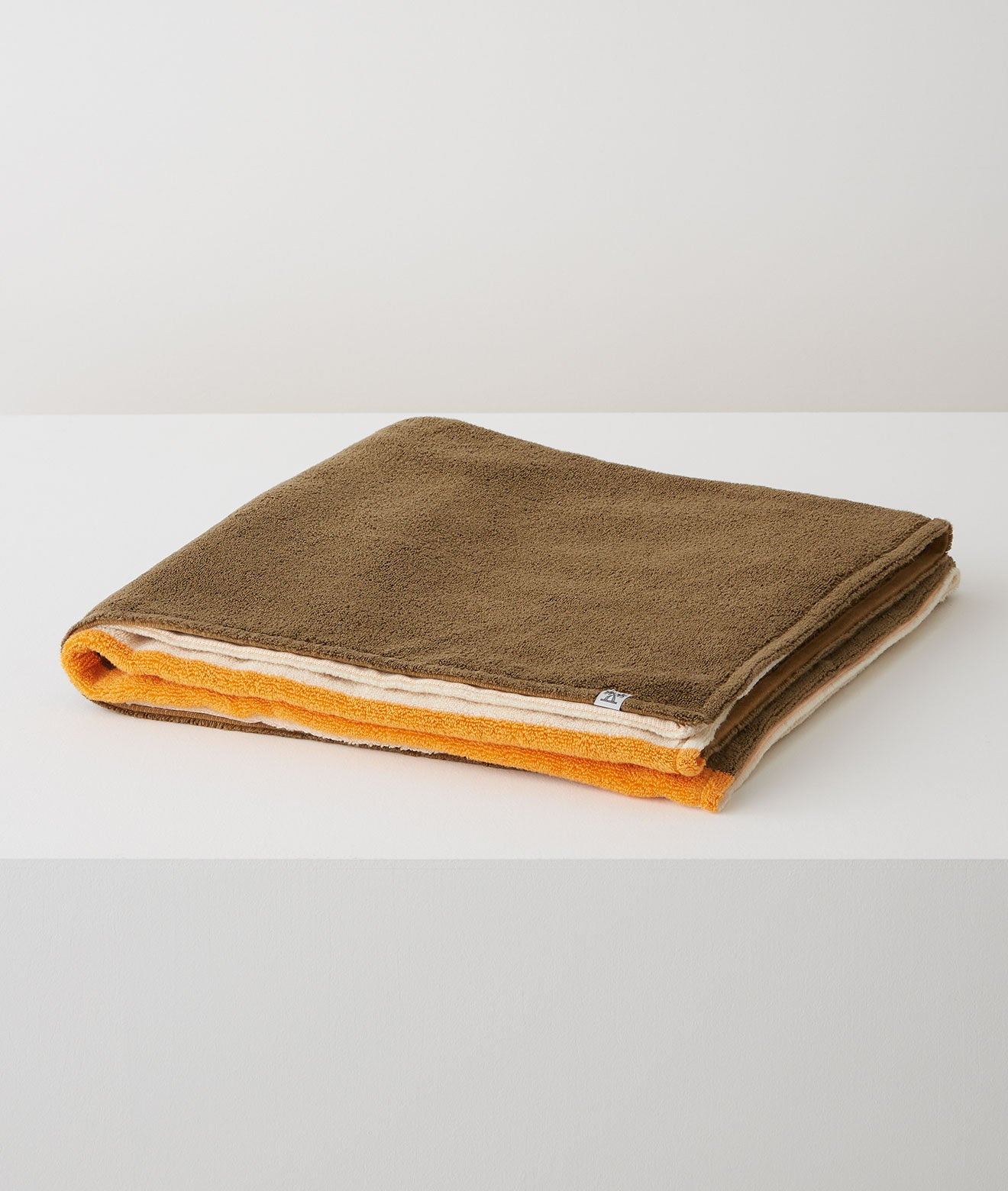 SALON TOWEL BATH SHEET / IVORY × OLIVE