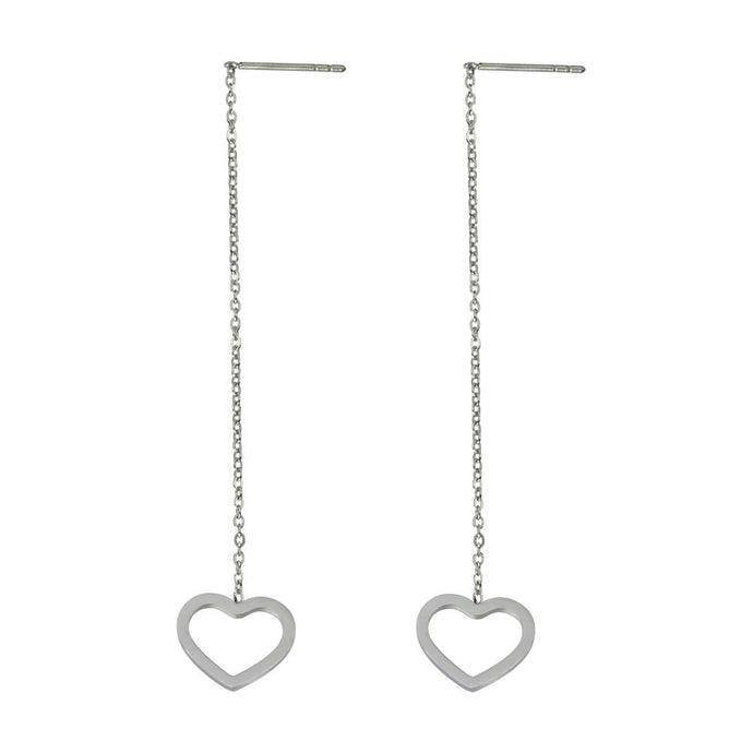 ESS641 STAINLESS STEEL EARRING WITH HEART